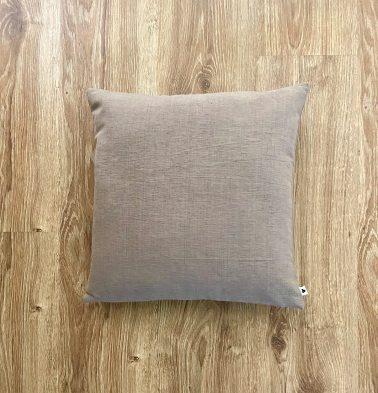 Customizable Cushion Cover, Textura Cotton - Caribou Brown