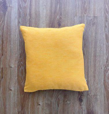 Customizable Cushion Cover, Textura Cotton - Daffodil Yellow