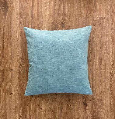 Customizable Cushion Cover, Textura Cotton - Teal Blue