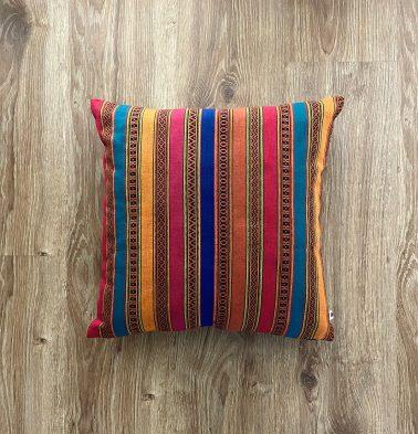 Customizable Cushion Cover, Cotton -  Vintage Weave - Multicolor