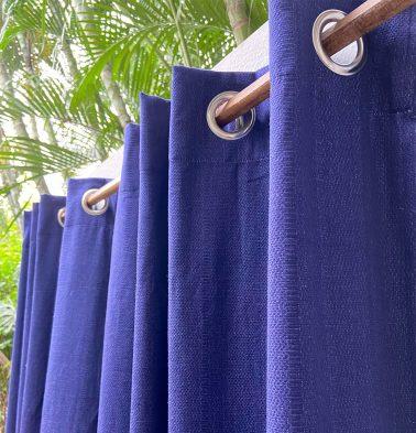 Kadoor Cotton Curtain Indigo Blue