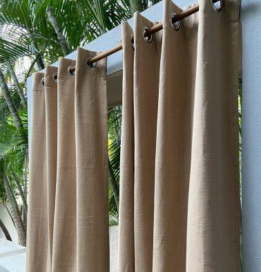 Kadoor Cotton Curtain Sand Beige