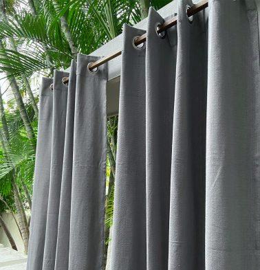 Kadoor Cotton Curtain Slate Grey