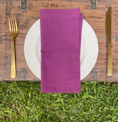 Solid Cotton Napkins Amethyst Purple Set Of 6
