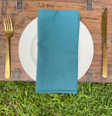 Solid Cotton Napkins Brittany Blue Set of 6