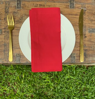 Solid Cotton Napkins Tango Red Set of 6