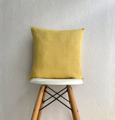 Panama Weave Cotton Cushion Cover Yolk Yellow 16