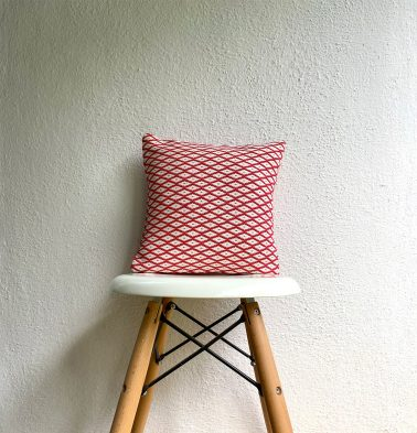 Holiday Cotton Cushion Cover Red/White 12