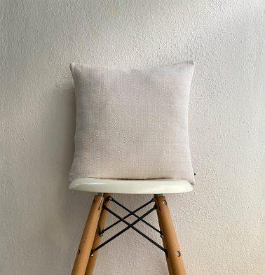 Panama Weave Cotton Cushion Cover Creamy White 16