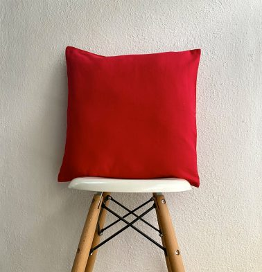 Solid Cotton Cushion cover Red 18