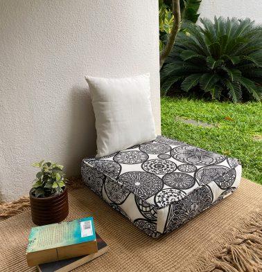 Dreamcatcher Cotton Floor Cushion Black