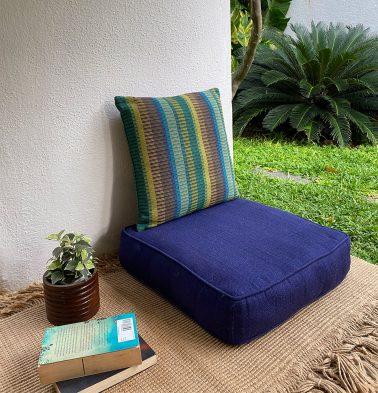 Kadoor Cotton Floor Cushion Indigo Blue