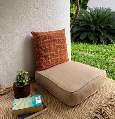 Kadoor Cotton Floor Cushion Sand Beige
