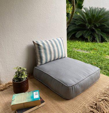 Kadoor Cotton Floor Cushion Slate Grey