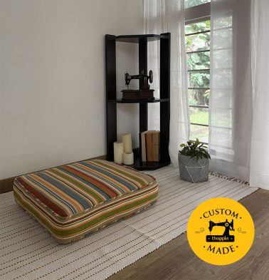 Customizable Floor Cushion, Cotton - Textured - Multi-color