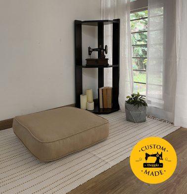 Customizable Floor Cushion, Kadoor Cotton - Sand Beige